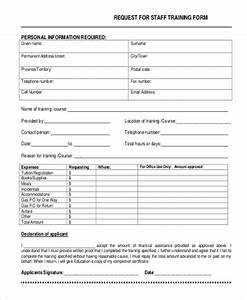 9 sample training request forms sample templates With training course application form template