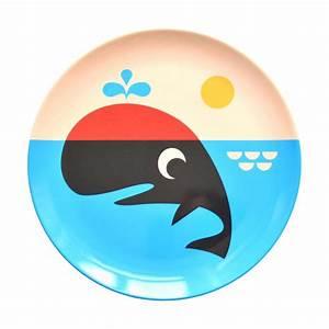 Leo & Bella Omm Design Plate Whale