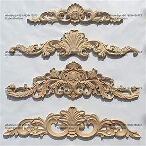 Decorative Wood Ornamental Furniture Mouldings Appliques