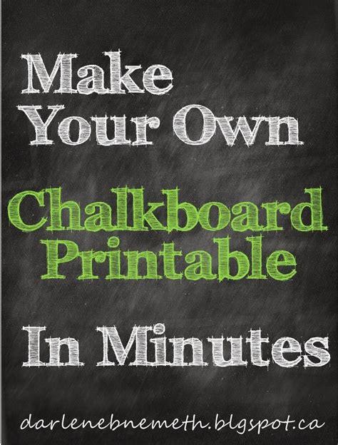darlene nemeth   chalkboard printable  minutes