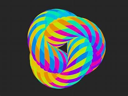 Rainbow Torus Transitions Spirals Phase Spiral Animation