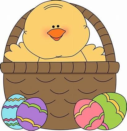 Easter Basket Chick Inside Clip Clipart Bunny