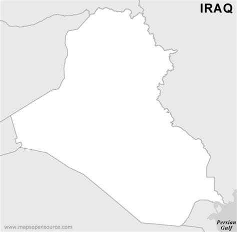 Free Iraq Outline Map Black And White Black And White