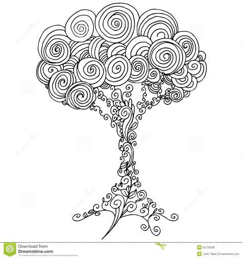 Kleurplaat Aler Liefe Nich by Zentangle Baum Entwurf Vektor Abbildung Illustration