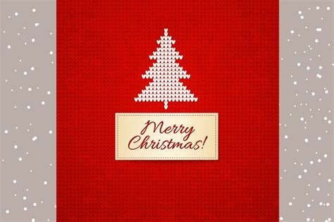knitted christmas cards pre designed illustrator
