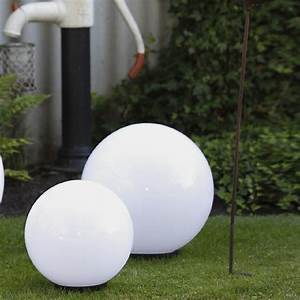 Lampen Für Den Garten : 2er set kugelleuchten 30 40cm au en lampen leuchten garten kugellampen ebay ~ Whattoseeinmadrid.com Haus und Dekorationen