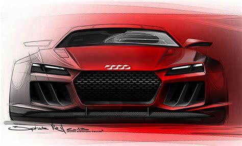 audi quattro sport  tron concept sketches leaked