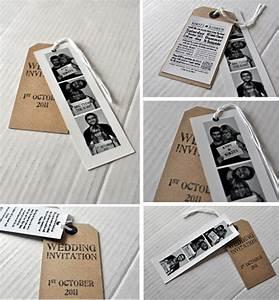 photobooth and brown luggage tag wedding invitations and With photo booth wedding invitations uk