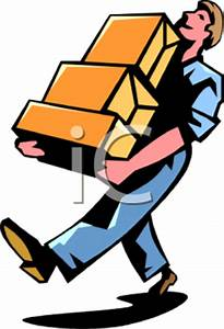 Royalty Free Clipart Image: Man Carrying Some Boxes