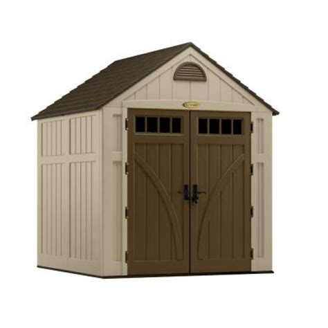 suncast resin glidetop outdoor storage shed bms4900 suncast glidetop 6 ft 8 in x 4 ft 10 in resin storage