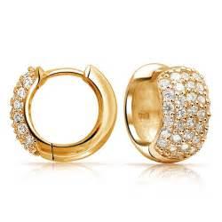 cubic zirconia engagement ring 925 sterling silver pave cz wide huggie hoop earrings