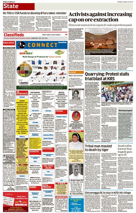 Scottsbluff Herald Classified by Deccan Herald Classified Advertisement Booking For