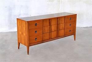 Select, Modern, Mid, Century, Modern, Triple, Dresser, Credenza