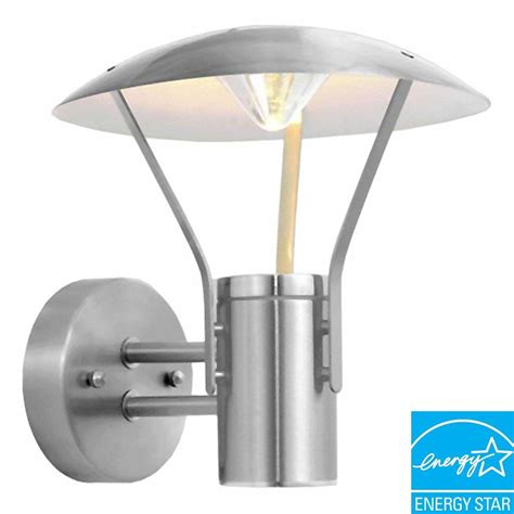 eglo roofus stainless steel outdoor wall mount light