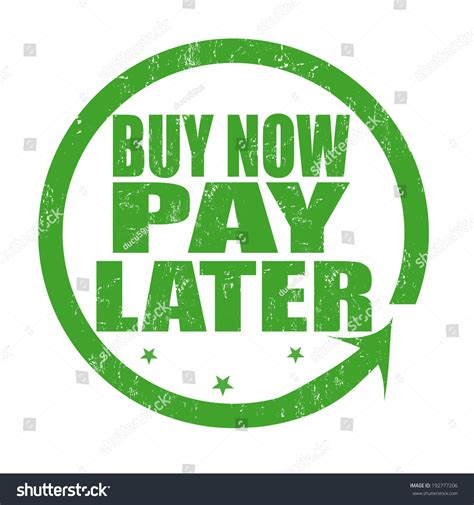Buy Now Pay Later Grunge Rubber Stamp On White, Vector