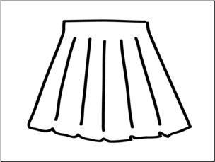 skirt clipart black and white clip basic words skirt b w unlabeled i abcteach
