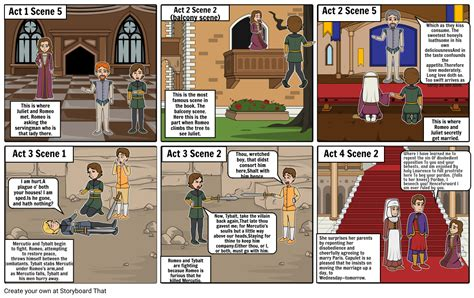 Romeo And Juliet Comic Strip Storyboard By 093073