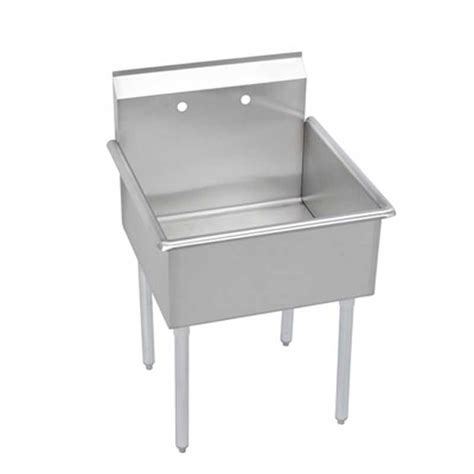 plastic utility sink with drainboard elkay foodservice b1c18x18x 1 compartment utility sink 18