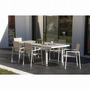 Salon De Jardin En Rotin Leroy Merlin : salon de jardin malaga aluminium taupe 1 table et 6 ~ Premium-room.com Idées de Décoration