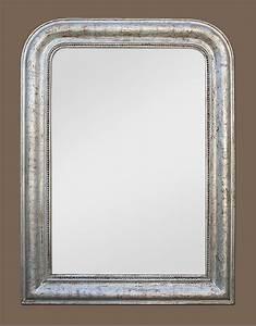 Miroir Vénitien Ancien : glace miroir louis philippe bois argent ~ Preciouscoupons.com Idées de Décoration