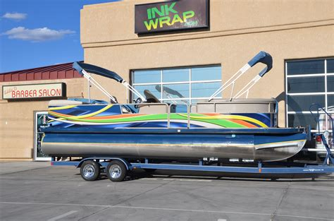 Boat Wrap Cost by Boat Ihsan Pontoon Boat Wrap Cost