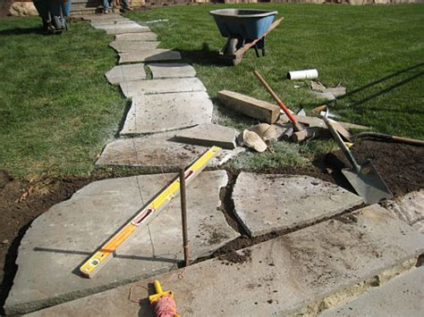 how to install flagstone how to install a flagstone path in a lawn landscapeadvisor