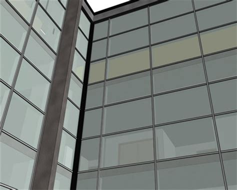 Kawneer Curtain Wall Revit by Aa100 50mm Curtain Wall System Zone Drained Bimstore