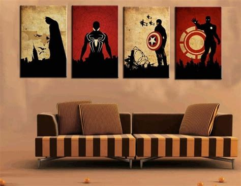 4 Hands Home Decor : Buy 4 Panel Marvel Comics Heroes Pictures