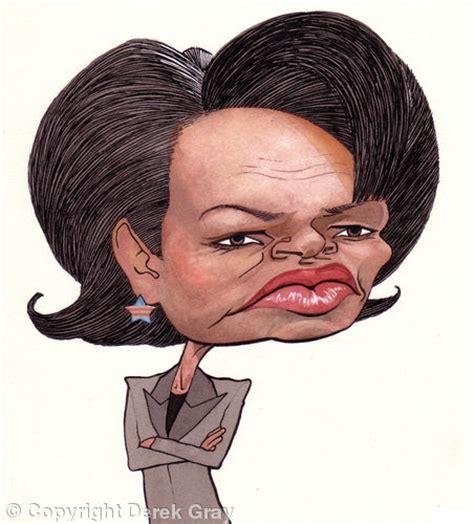 condoleezza rice pen ink watercolour