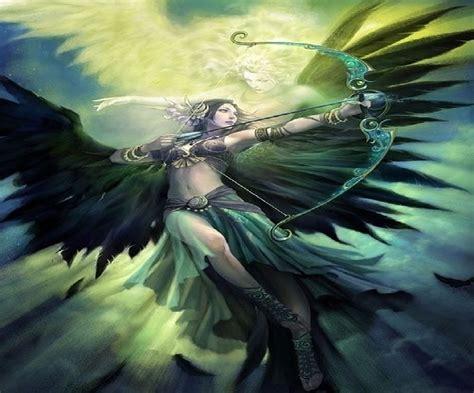 fantasy archer angel  spirit image id  image