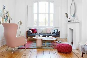 Rosa Deko Wohnzimmer : idee zum wohnen einrichten in pastellfarben ~ Frokenaadalensverden.com Haus und Dekorationen