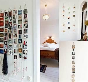 Guirlande Accroche Photo : accroche photo mural original id es pour afficher ses photos sans cadres ~ Teatrodelosmanantiales.com Idées de Décoration