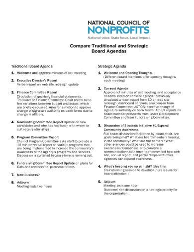 nonprofit agenda templates    premium