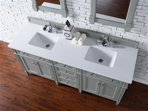 72 inch double sink vanity top james martin brittany collection 72 quot double vanity urban gray