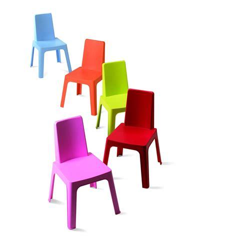 chaises enfants chaise pour enfants en résine injectée julieta panaché