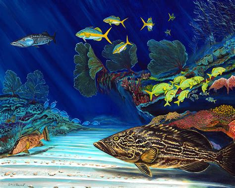 grouper reef steve ozment painting paintings hogfish 26th uploaded november which wall print fineartamerica