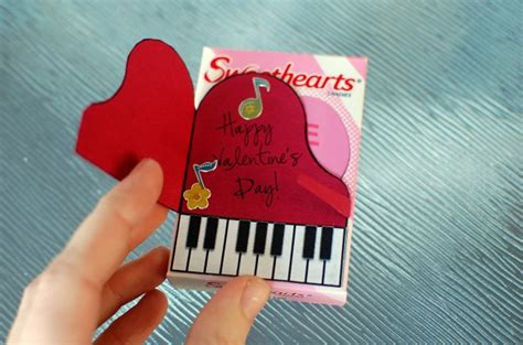 piano valentine craft printable tutorial color