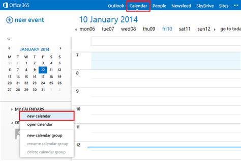 Office 365 Outlook Calendar by How To Create A Shared Calendar In Outlook Office 365