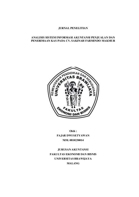 (PDF) JURNAL PENELITIAN ANALISIS SISTEM INFORMASI