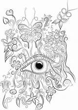 Coloring Colouring Adult Eye Adults Pdf Mandala Eyes Printable Drawing Mind Eyeball Sheets Colour Butterfly Digital Instant Butterflies Flowers Anime sketch template