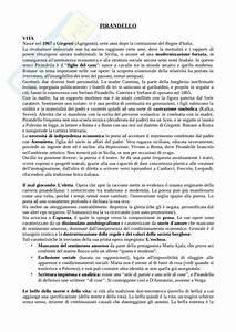Pirandello  Appunti Di Letteratura Italiana Contemporanea