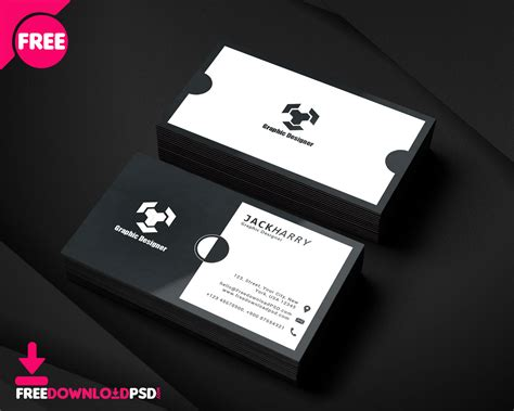 visiting card design template psd file modern graphic designer business card psd template