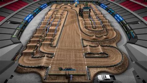 yamaha animated track map glendale supercross