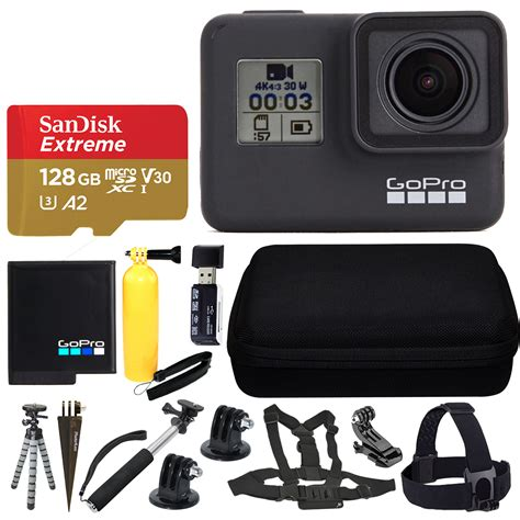 gopro hero black action camera sandisk gb memory