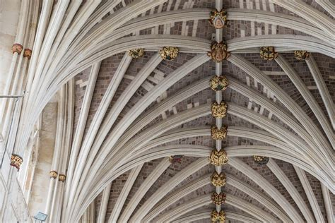 Corbelled Ceiling by Vaulted Ceiling At Exeter Cathedral