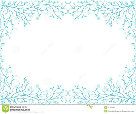 Frozen frame stock vector. Image of decoration, twig