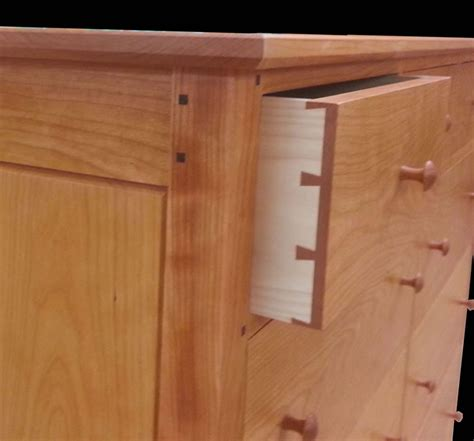handmade cherry  drawer double dresser mission inspired