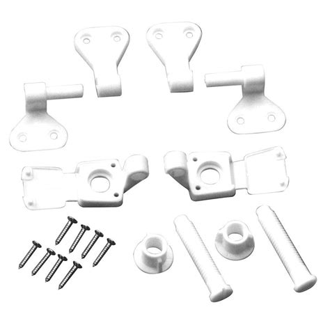 Everbilt Toilet Seat Hinges In White88018  The Home Depot