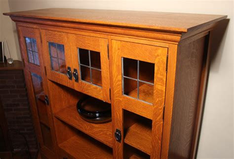 quarter sawn oak cabinets kitchen craftsman quarter sawn oak cabinet with leaded glass 7619