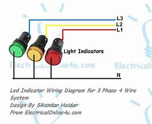 Light Indicator Wiring Diagrams For 3 Phase Voltage Coming